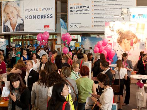 Eingangsbereich der Jobmesse women&work