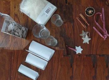 Das brauchst du zum weihnachtlichen Windlicht basteln