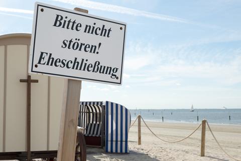Standesamtlich heiraten am Strand von Norderney